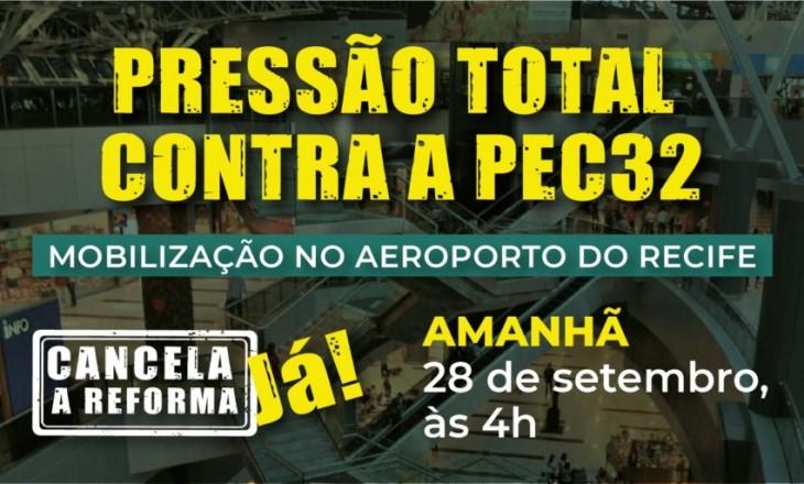 Mobilização no Aeroporto Internacional do Recife