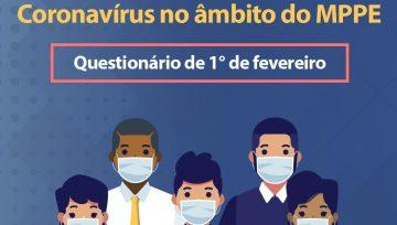 """Reforçamos o pedido para servidore/as responderem à pesquisa """"Coronavírus no âmbito do MPPE"""""""